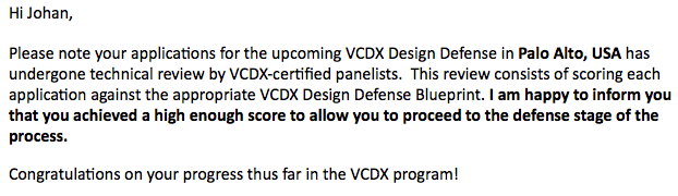 VCDX application