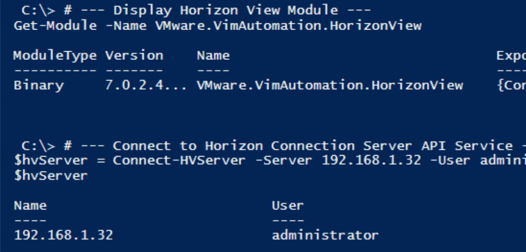 PowerCLI for Horizon
